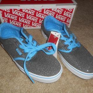 Vans Atwood Grey/Blue Sparkle Shoes
